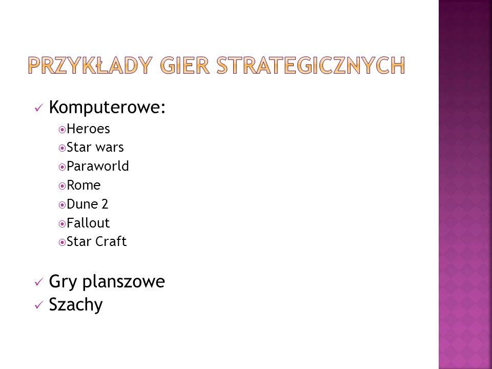 Przykłady gier strategicznych