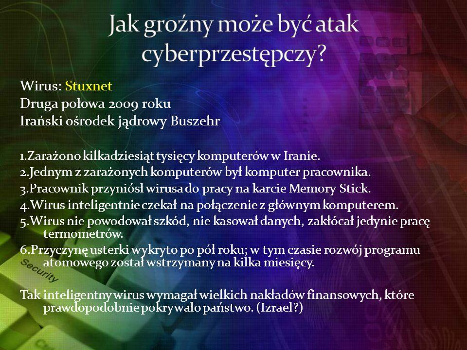 Jak groźny może być atak cyberprzestępczy