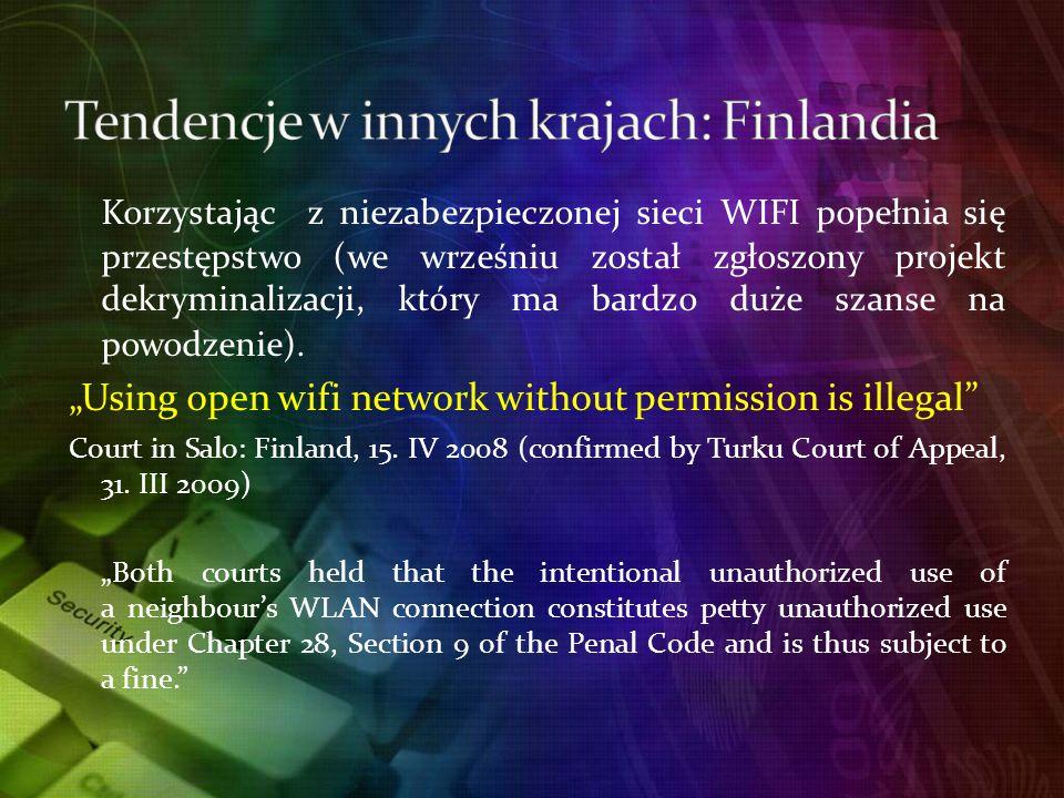 Tendencje w innych krajach: Finlandia