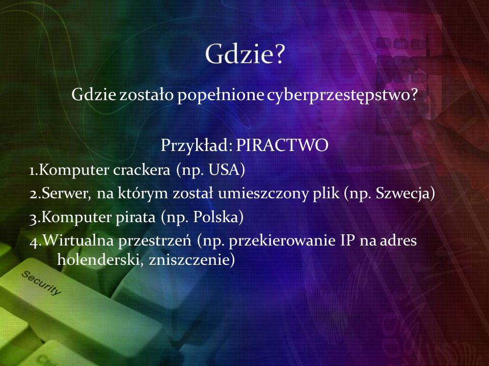 Gdzie zostało popełnione cyberprzestępstwo