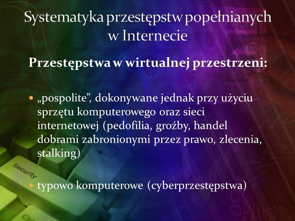 Systematyka przestępstw popełnianych w Internecie