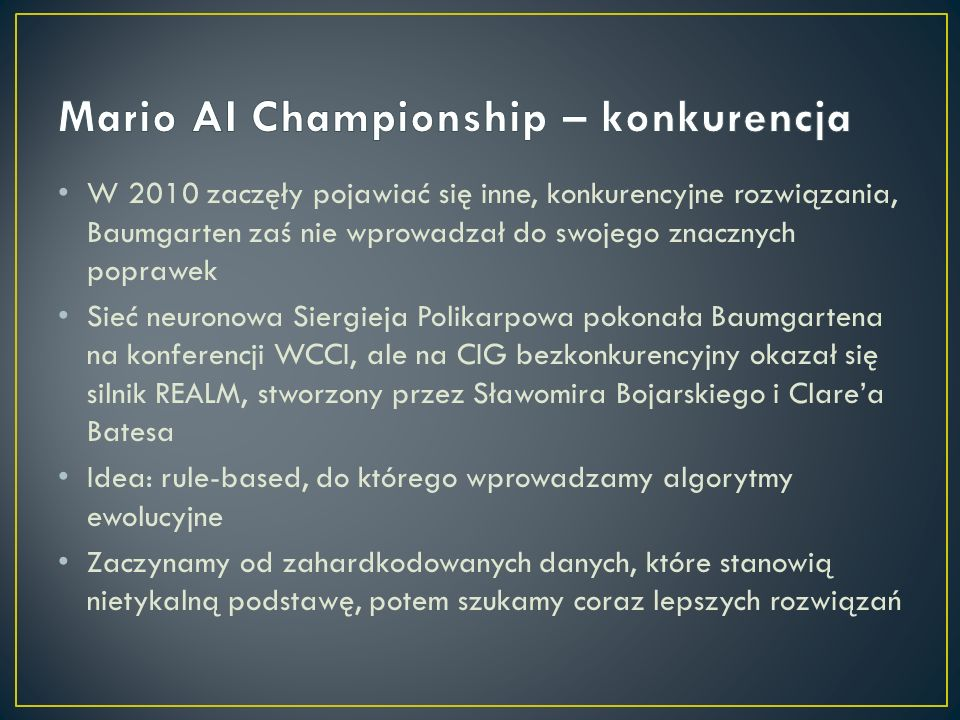 Mario AI Championship – konkurencja