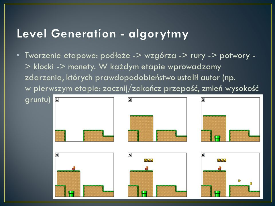 Level Generation - algorytmy