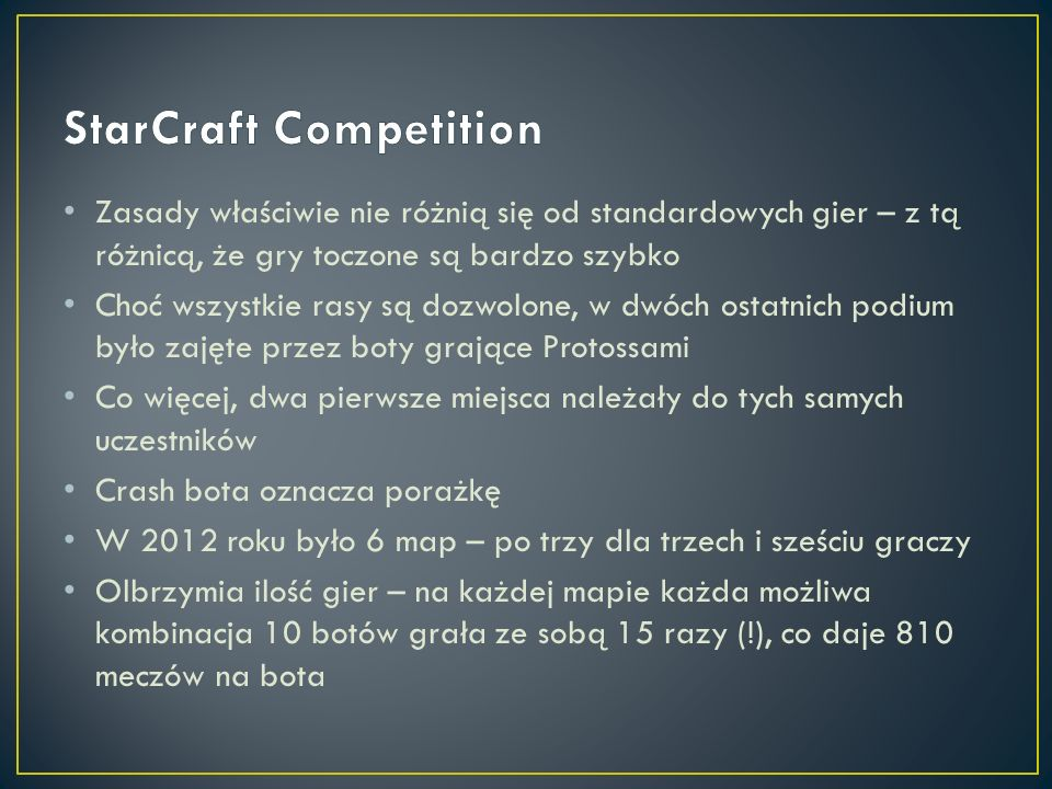 StarCraft Competition