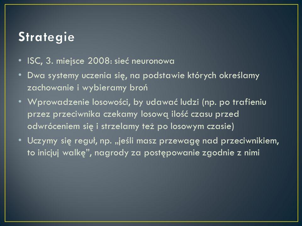 Strategie ISC, 3. miejsce 2008: sieć neuronowa