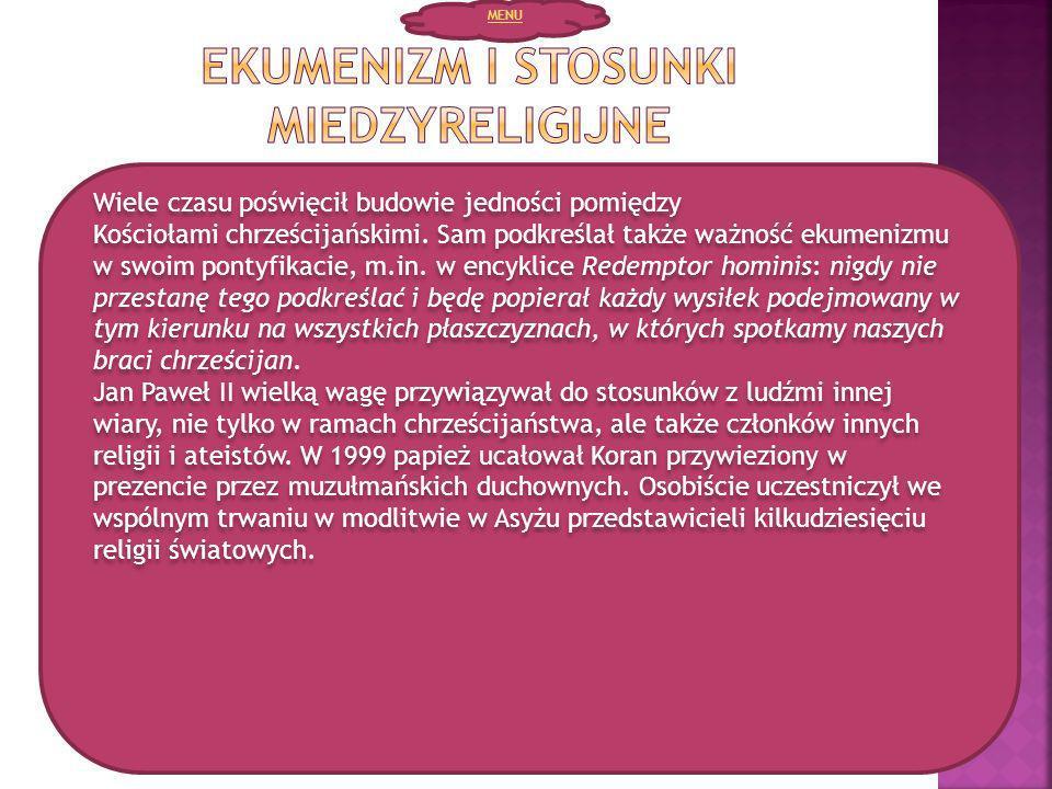 Ekumenizm i stosunki miedzyreligijne