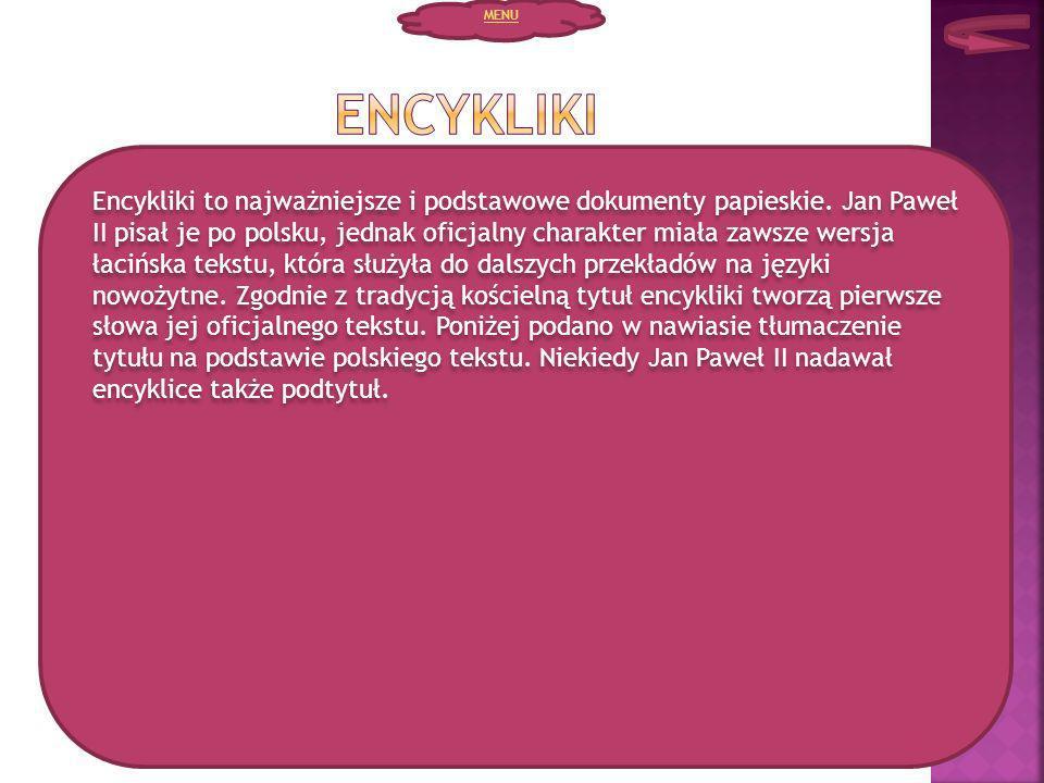 MENU Encykliki.