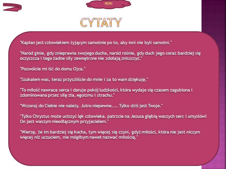 MENU Cytaty.