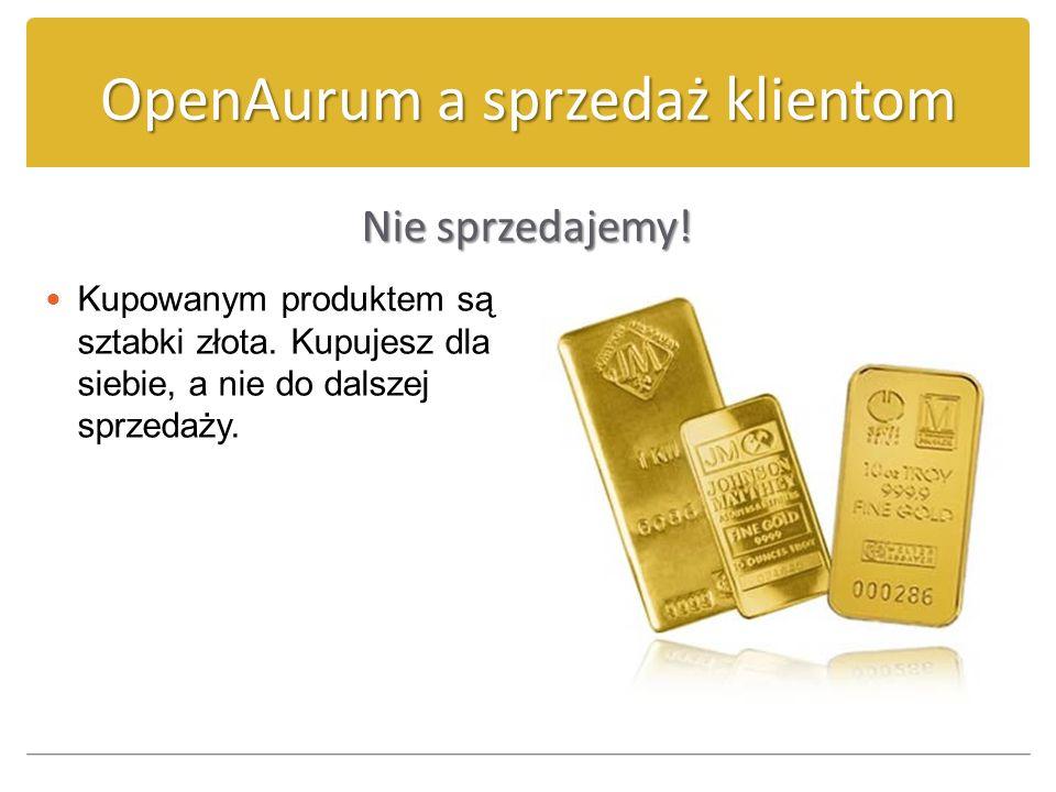 OpenAurum a sprzedaż klientom