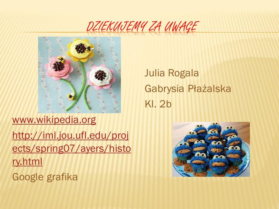 Dziekujemy za uwage Julia Rogala Gabrysia Płażalska Kl. 2b