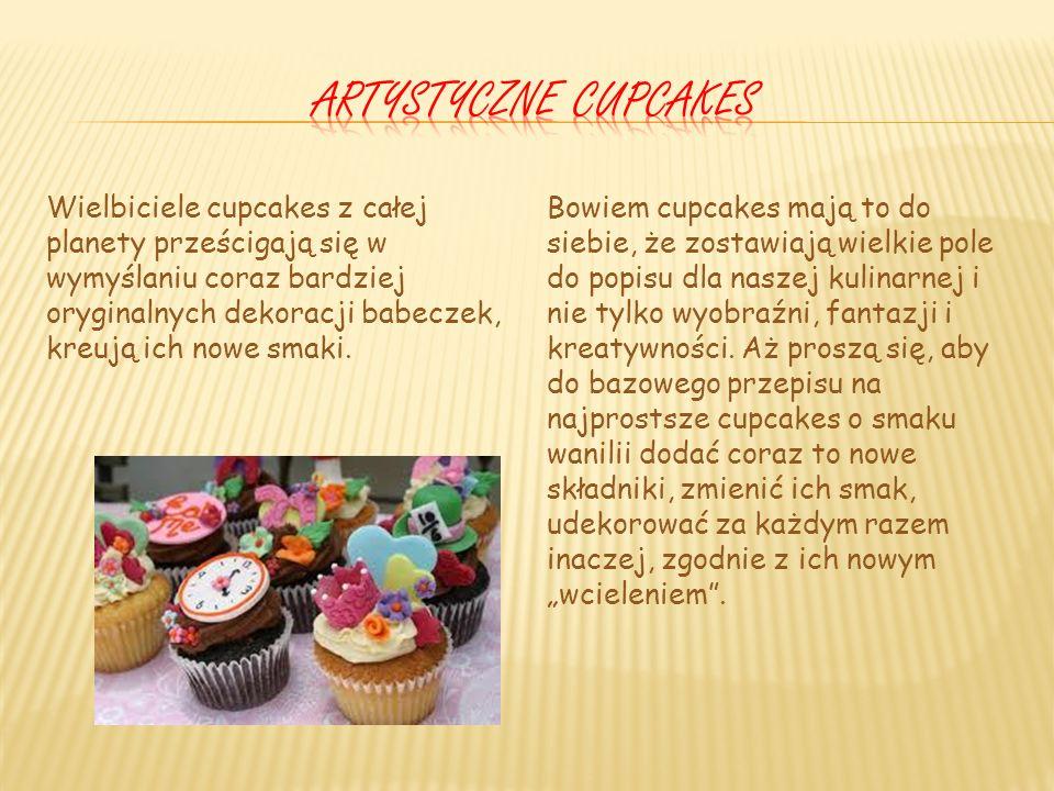 Artystyczne cupcakes