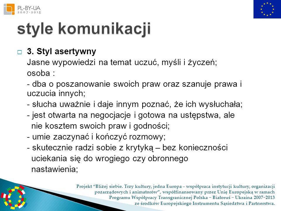 style komunikacji 3. Styl asertywny