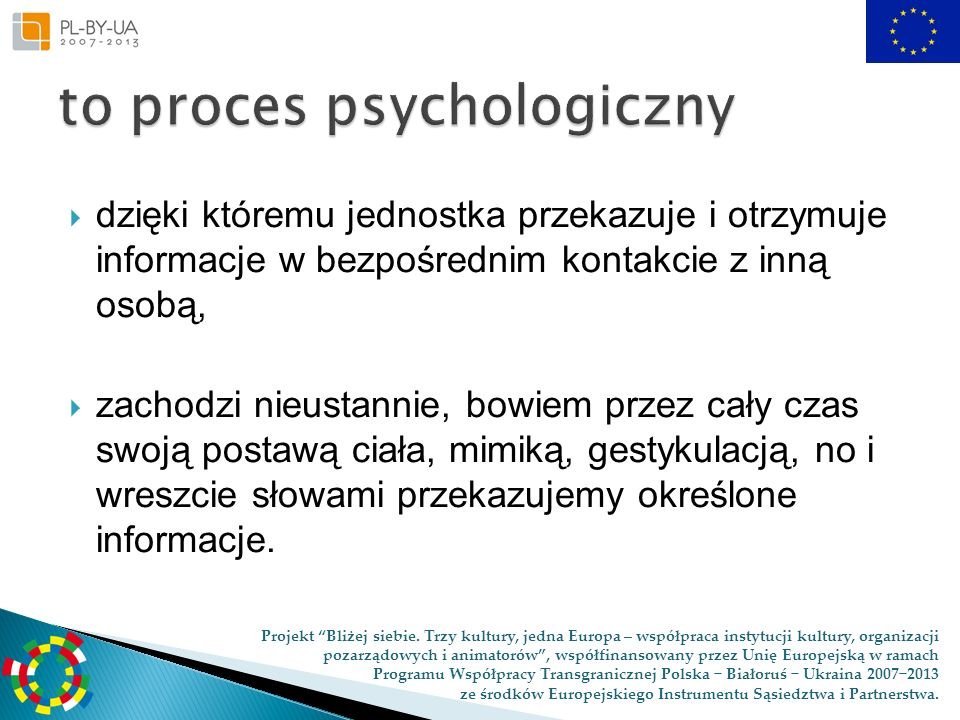 to proces psychologiczny