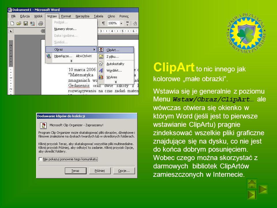 """ClipArt to nic innego jak kolorowe """"małe obrazki ."""