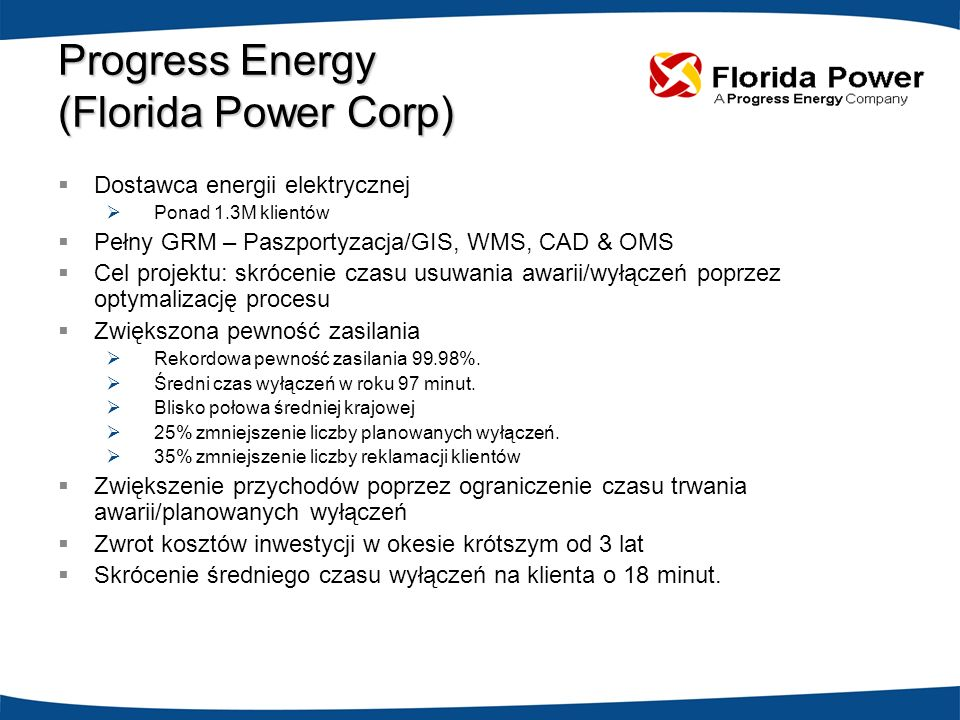 Progress Energy (Florida Power Corp)