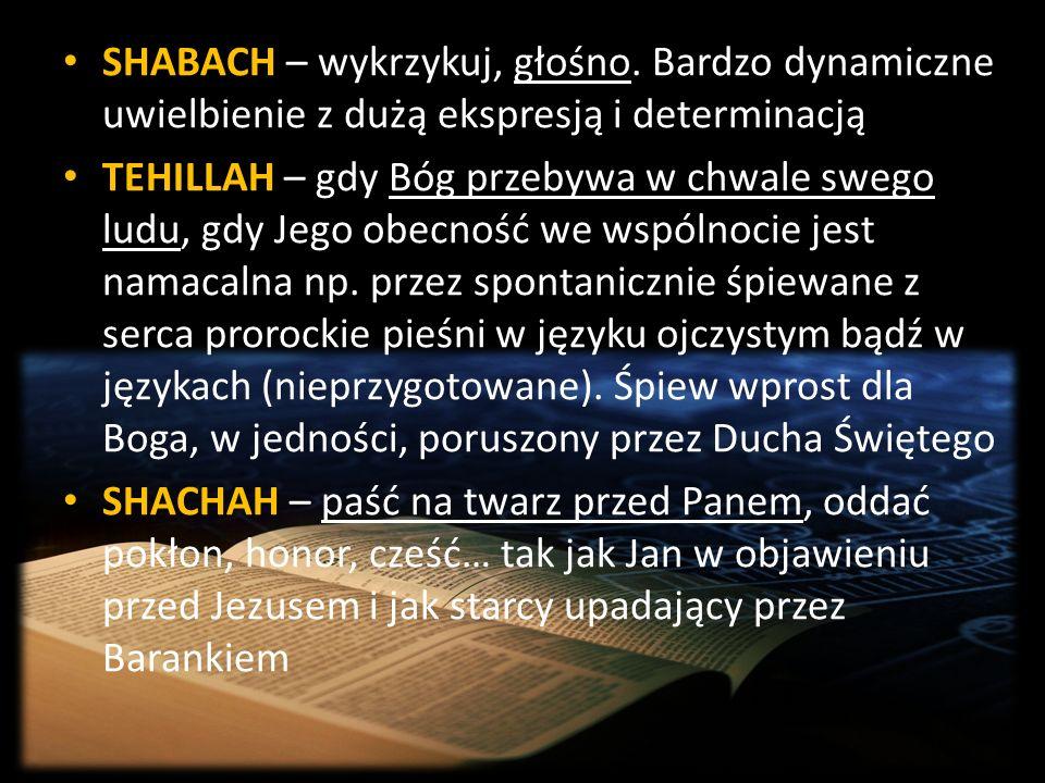 SHABACH – wykrzykuj, głośno
