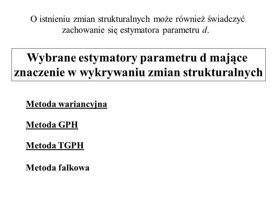 Wybrane estymatory parametru d mające