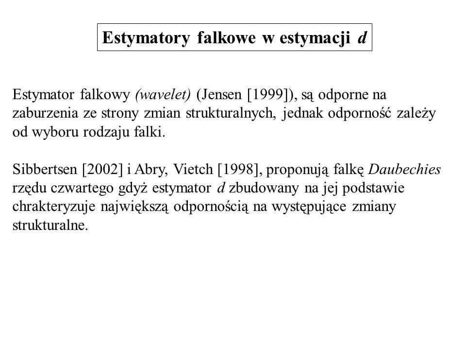 Estymatory falkowe w estymacji d