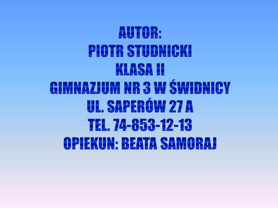 GIMNAZJUM NR 3 W ŚWIDNICY UL. SAPERÓW 27 A TEL. 74-853-12-13