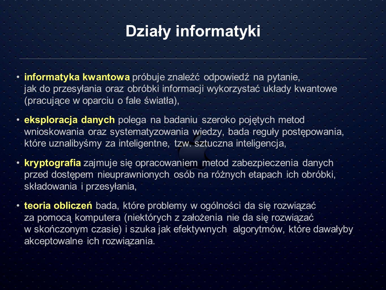 Działy informatyki