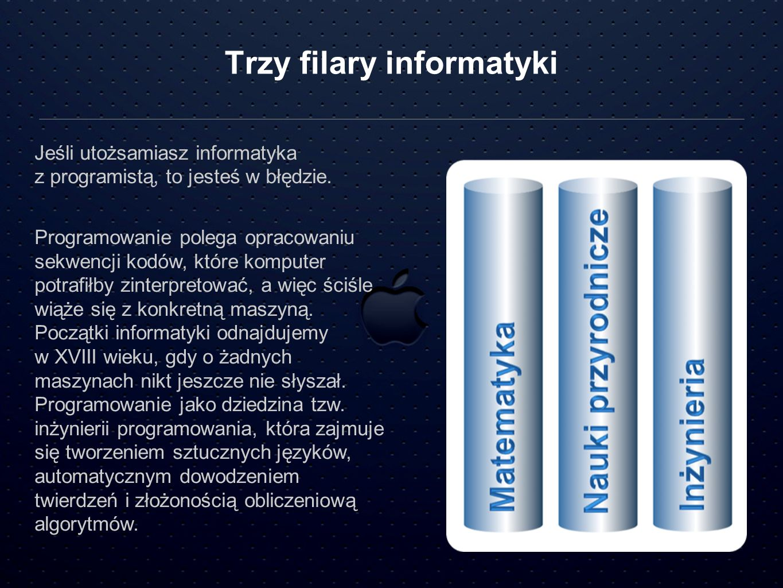 Trzy filary informatyki