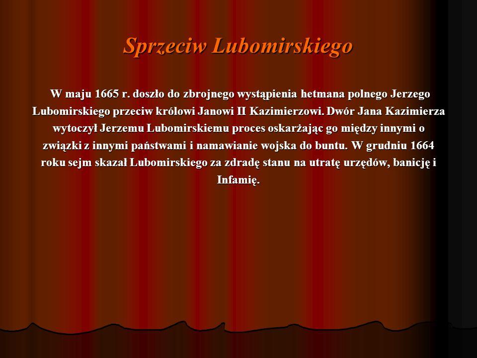 Sprzeciw Lubomirskiego