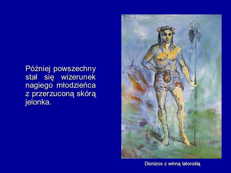 Dionizos z winną latoroślą