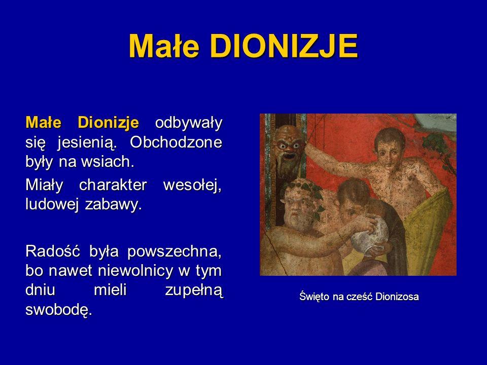 Święto na cześć Dionizosa