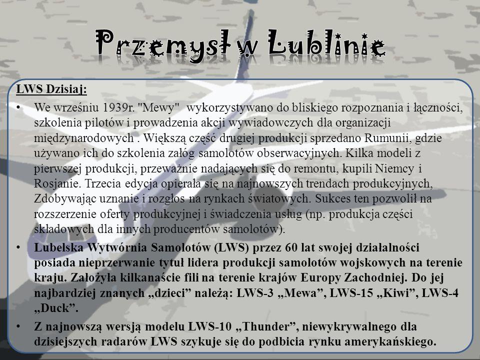 Przemysł w Lublinie LWS Dzisiaj:
