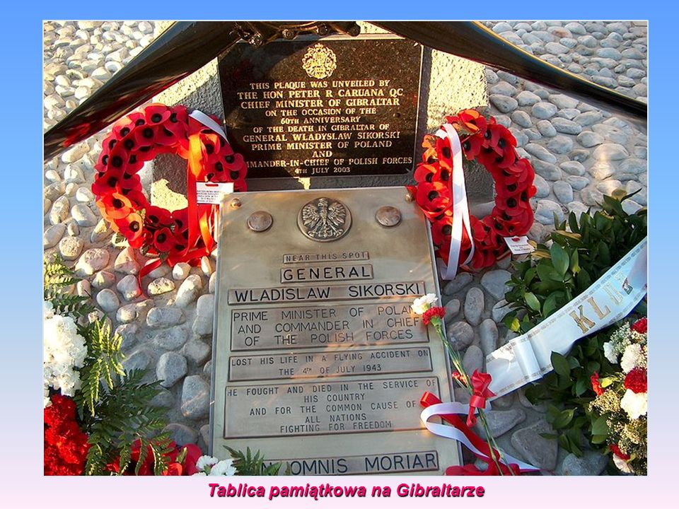 Tablica pamiątkowa na Gibraltarze