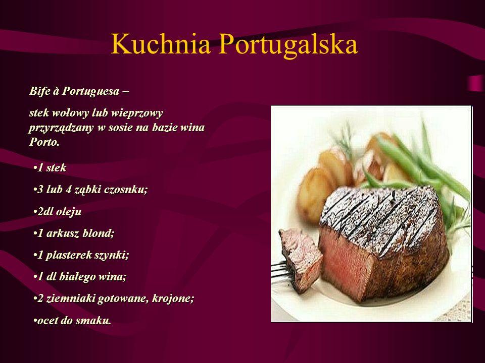 Kuchnia Portugalska Bife à Portuguesa –