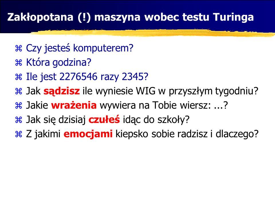 Zakłopotana (!) maszyna wobec testu Turinga