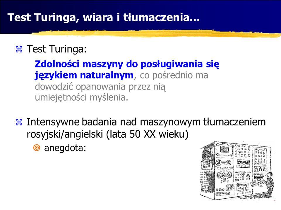 Test Turinga, wiara i tłumaczenia...