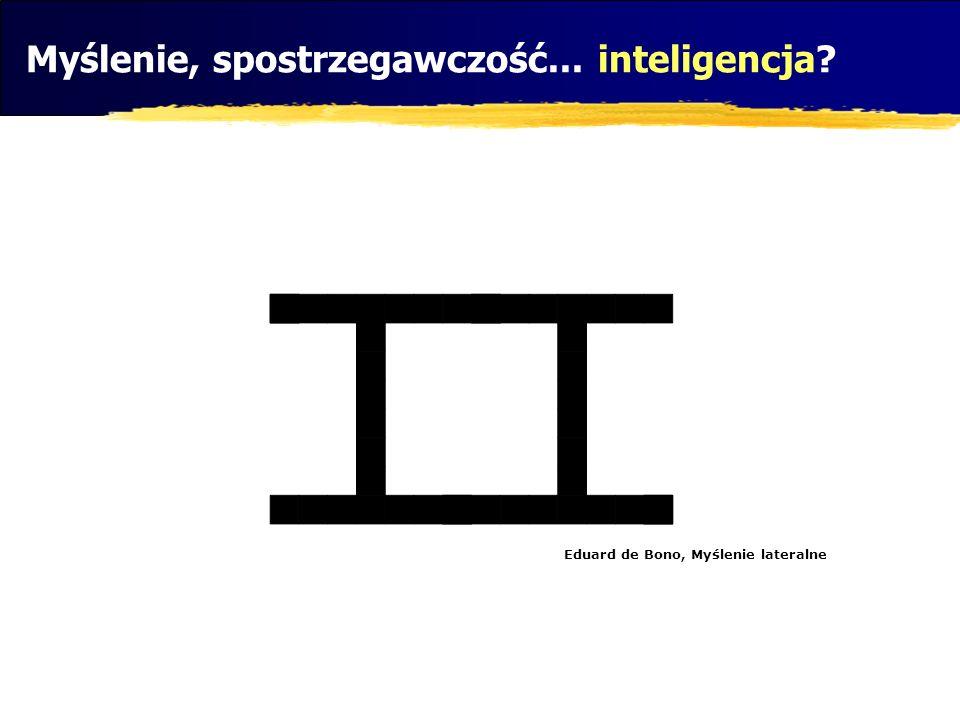 Myślenie, spostrzegawczość... inteligencja