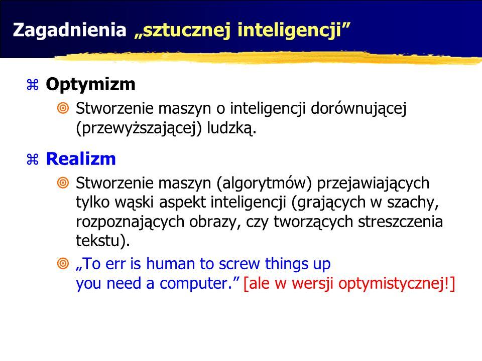 """Zagadnienia """"sztucznej inteligencji"""