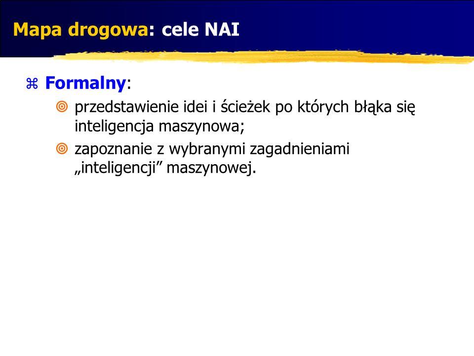 Mapa drogowa: cele NAI Formalny: