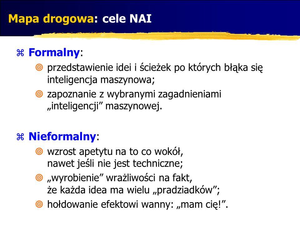 Mapa drogowa: cele NAI Formalny: Nieformalny: