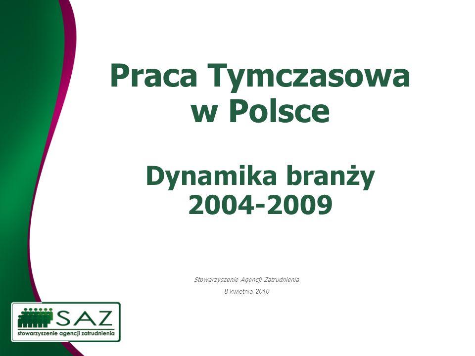 Praca Tymczasowa w Polsce Dynamika branży 2004-2009
