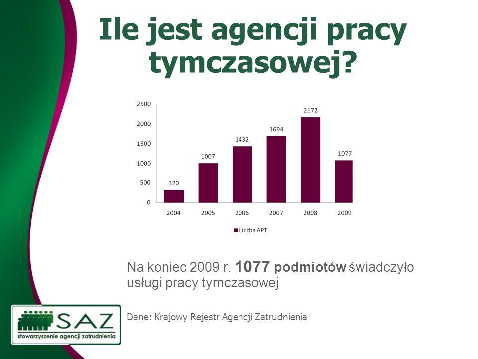 Ile jest agencji pracy tymczasowej