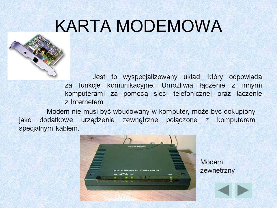 KARTA MODEMOWA