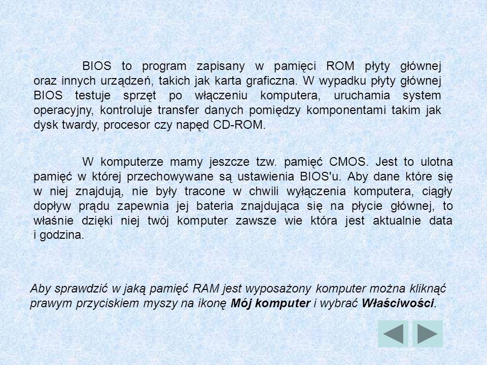 BIOS to program zapisany w pamięci ROM płyty głównej oraz innych urządzeń, takich jak karta graficzna. W wypadku płyty głównej BIOS testuje sprzęt po włączeniu komputera, uruchamia system operacyjny, kontroluje transfer danych pomiędzy komponentami takim jak dysk twardy, procesor czy napęd CD-ROM.