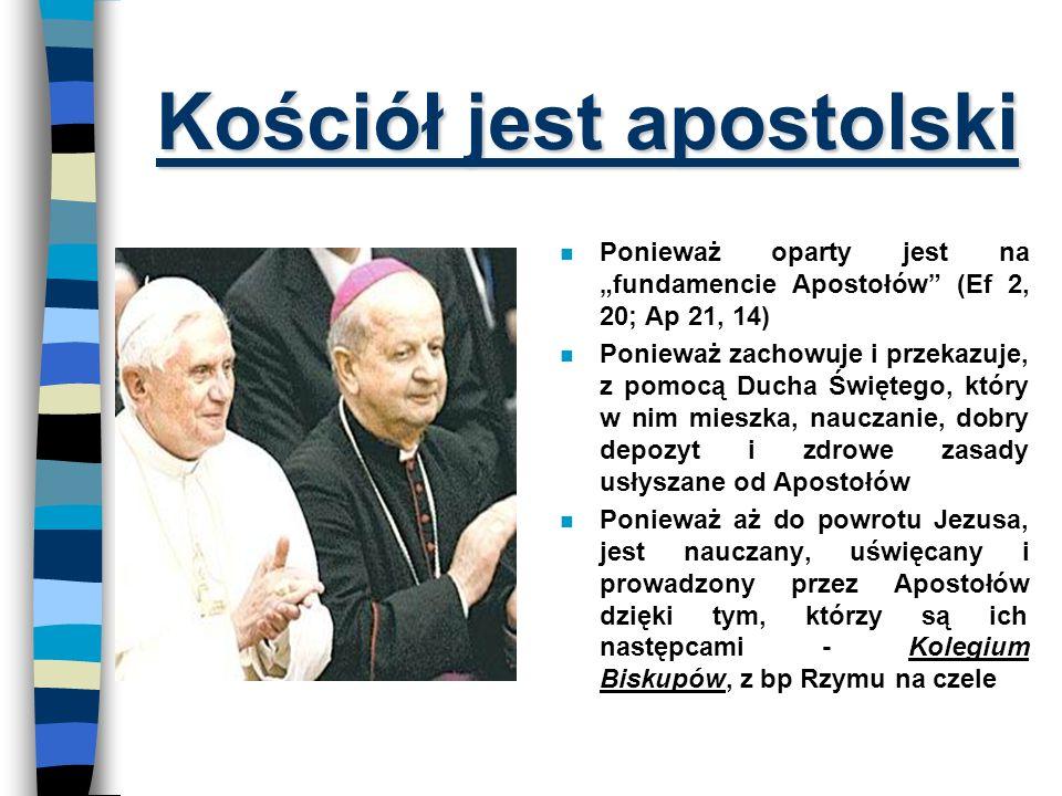 Kościół jest apostolski
