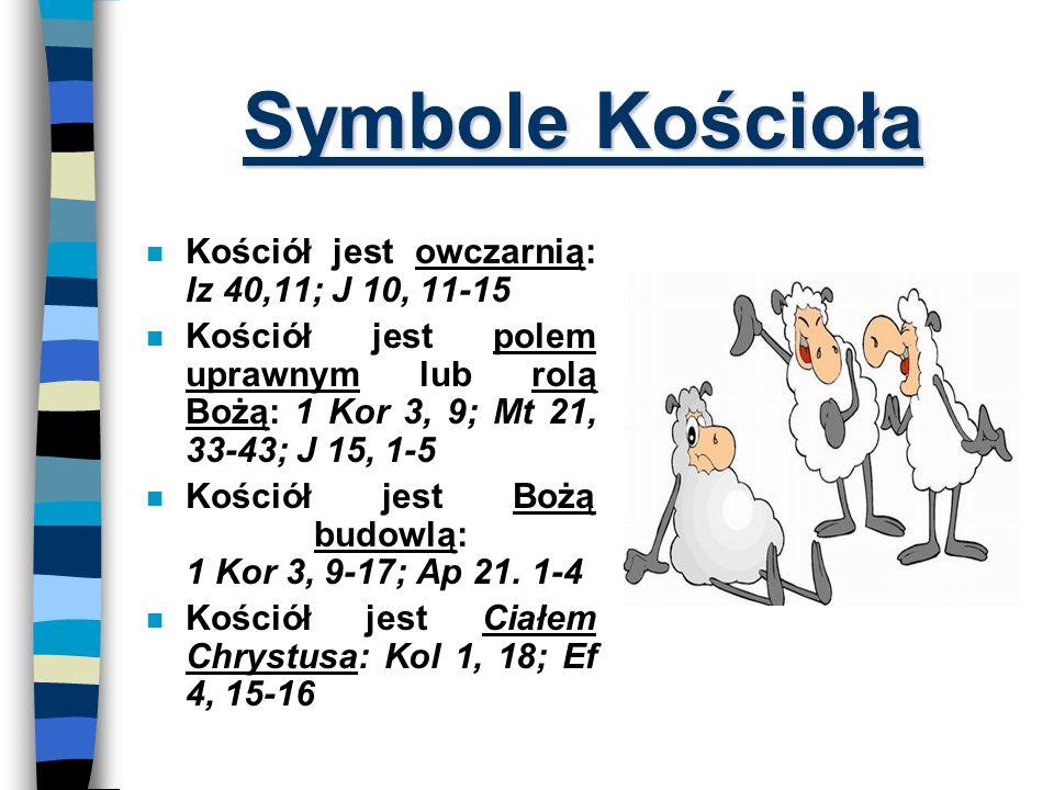 Symbole Kościoła Kościół jest owczarnią: Iz 40,11; J 10, 11-15