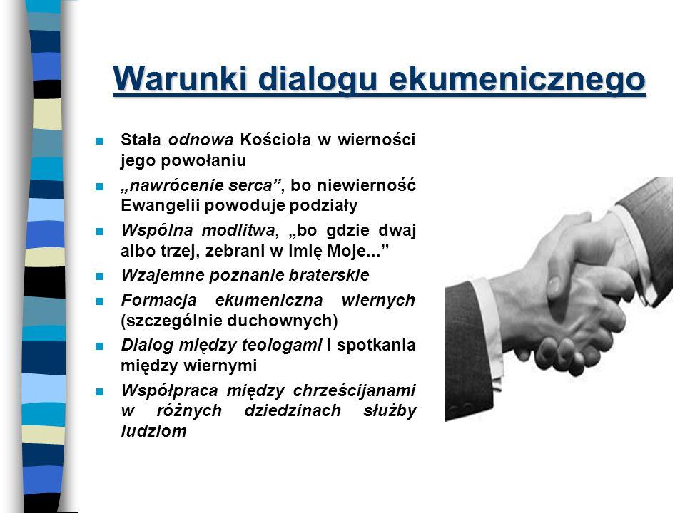 Warunki dialogu ekumenicznego