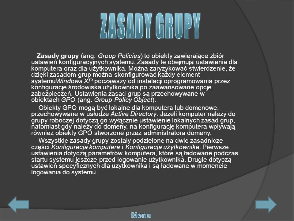 ZASADY GRUPY