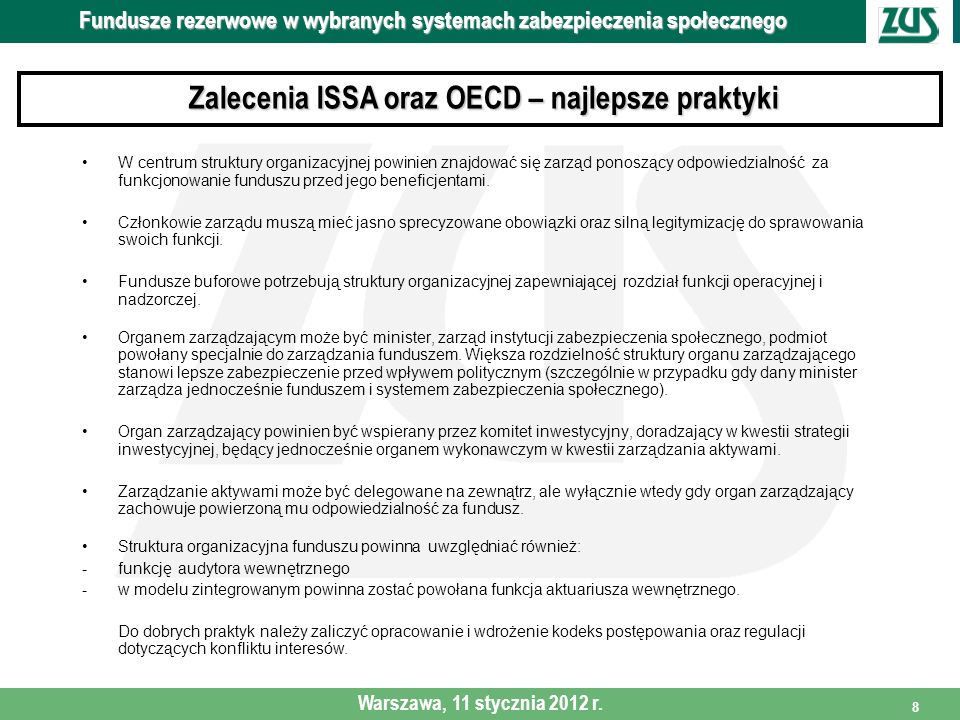 Zalecenia ISSA oraz OECD – najlepsze praktyki