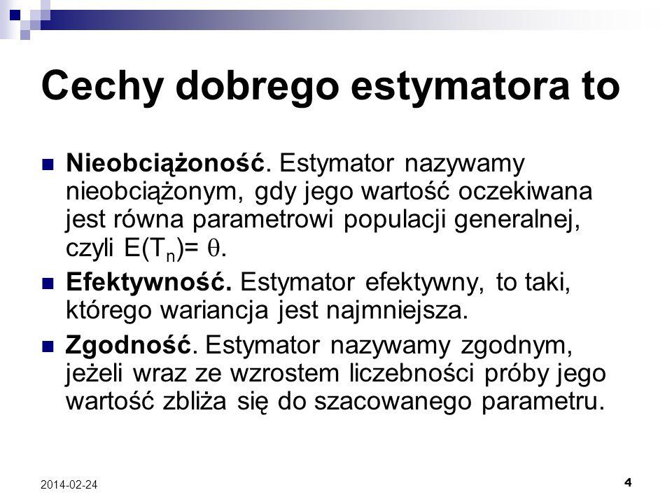 Cechy dobrego estymatora to