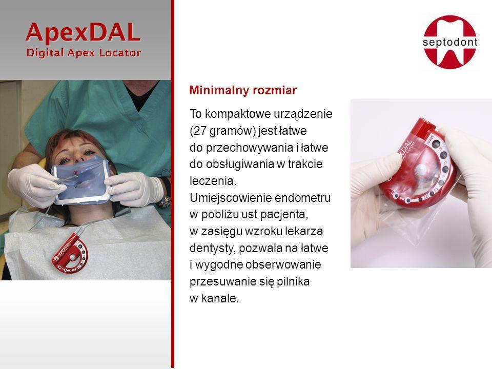 Minimalny rozmiar To kompaktowe urządzenie (27 gramów) jest łatwe do przechowywania i łatwe do obsługiwania w trakcie leczenia.