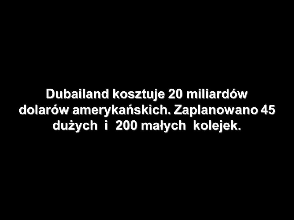 Dubailand kosztuje 20 miliardów dolarów amerykańskich