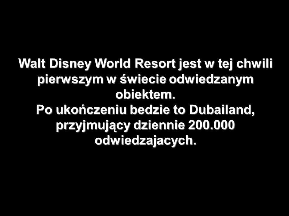 Walt Disney World Resort jest w tej chwili pierwszym w świecie odwiedzanym obiektem.
